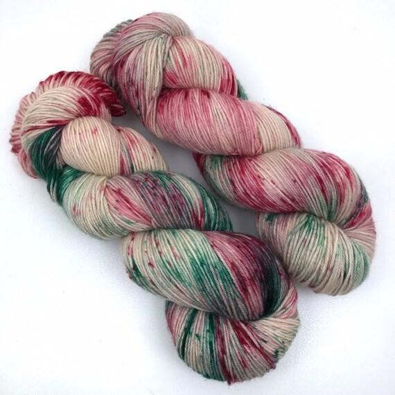 Sugar Cookie - Teagan Plush Sock - Superwash Merino Nylon - Ready to Ship Hand Dyed Yarn