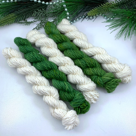Snow Pine Mini Set - Jack Bulky - 100% Superwash Merino - Ready to Ship Hand Dyed Yarn
