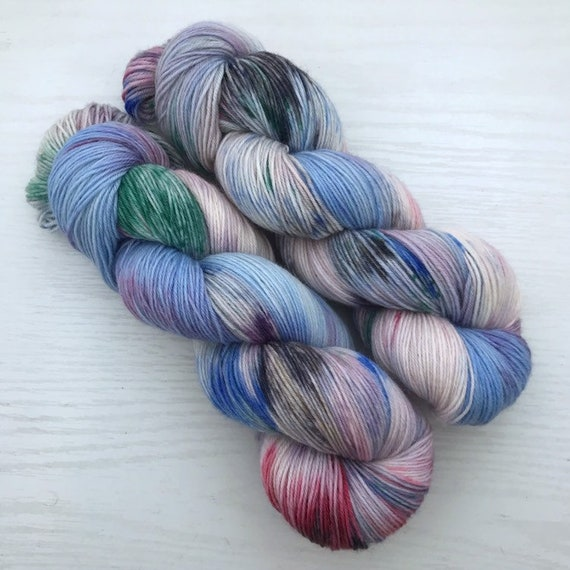 Paint Box - Teagan Plush Sock - Superwash Merino Nylon - Ready to Ship Hand Dyed Yarn