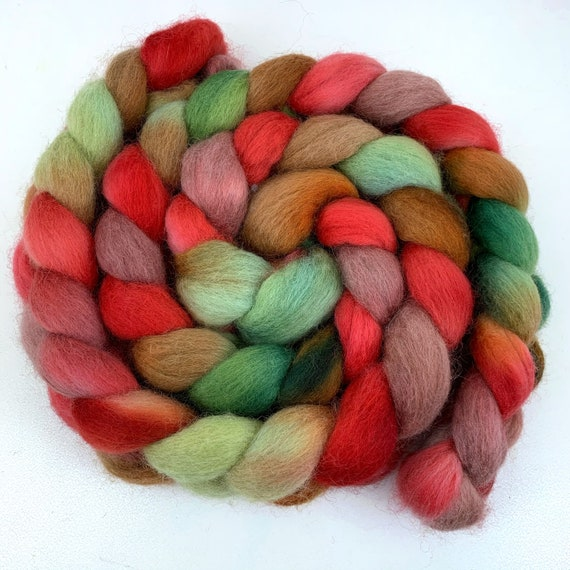 Ratatouille- Falkland Wool - 4oz Hand Dyed Roving