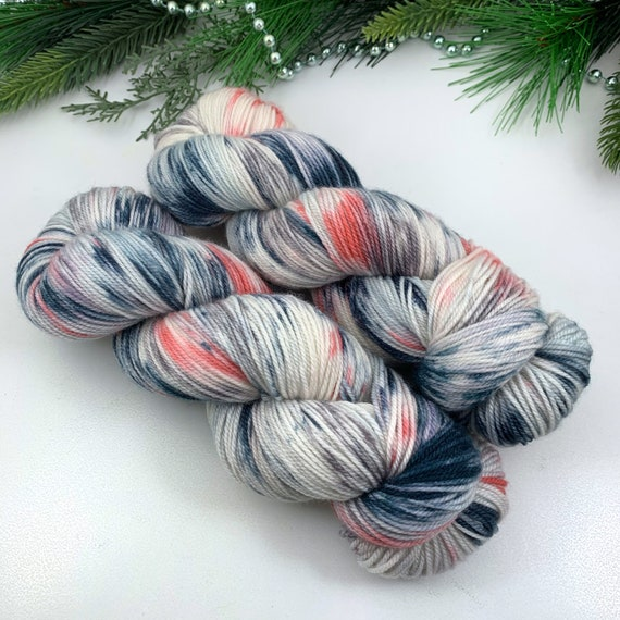 Boutique - Holly MCN Sock - Merino Cashmere Nylon - Ready to Ship Hand Dyed Sock Yarn