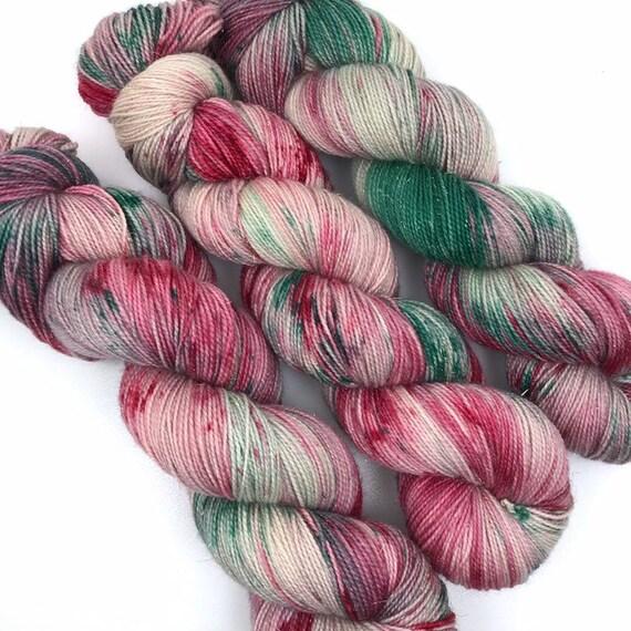 Sugar Cookie - Gold Sparkle Sock - Superwash Merino Nylon Gold Stellina - Ready to Ship Hand Dyed Yarn