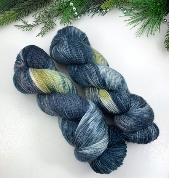 Skyline - Holly MCN Sock - Merino Cashmere Nylon - Ready to Ship Hand Dyed Sock Yarn
