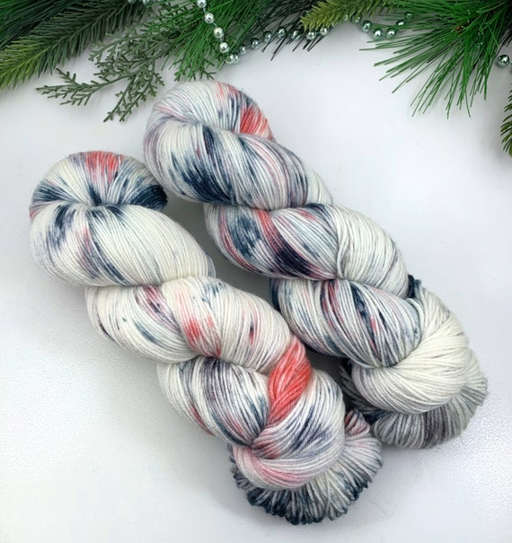 Boutique - Teagan Plush Sock - Superwash Merino Nylon - Ready to Ship Hand Dyed Yarn