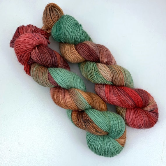 Ratatouille - 70/20/10 Baby Alpaca Mulberry Silk Cashmere DK - Hand Dyed Yarn - 100g
