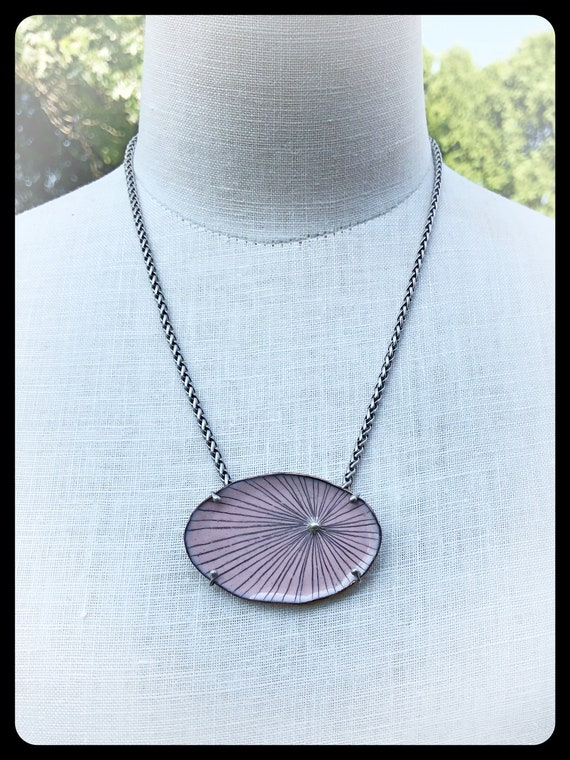 Pink Oval Pod Necklace