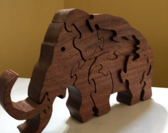 Wooden puzzle Wooly Momouth