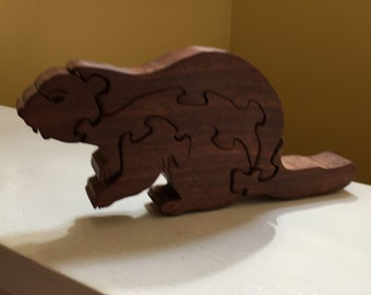 Wooden puzzle Beaver
