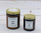 Cedar + Amber Candle; Natural Candle; Tallow Candle; Beeswax Candle; Container Candle; Eco Friendly Candle; Sustainable Candle