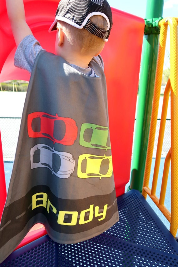 Cars Personalized Superhero Cape - Boys Birthday - Gift for Kids -  Superhero party cape - Toddler - Transportation - Pretend