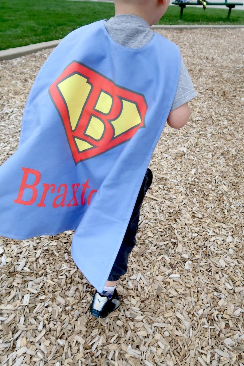 Super Blue Personalized Superhero Cape - Superhero party cape - Boys  Birthday - Pretend Play - Dress Up