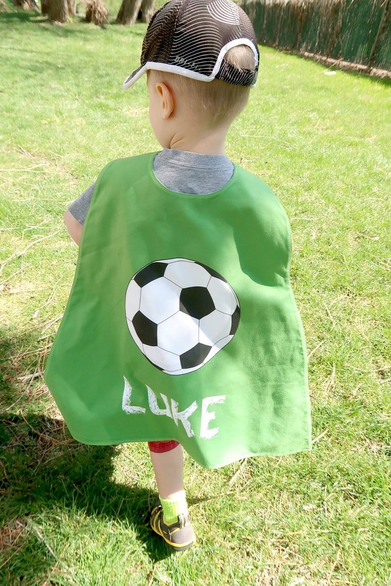 Green Soccer Personalized Superhero Cape - Boys Birthday - Superhero party  cape - Summer - Sports - Pretend Play - Imaginary Play