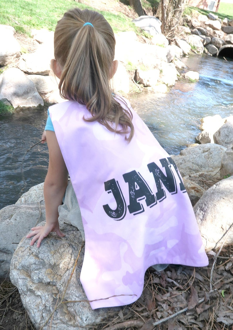 Pink Camouflage Personalized Superhero Cape - Superhero Party Cape - Girls  Birthday - Holiday - Dress Up - Pretend Play - Kids/Toddlers