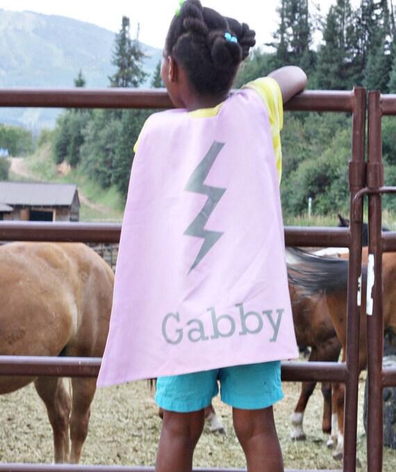 Pink Bolt Personalized Superhero Cape - Superhero Party Cape - Girls  Birthday - Dress Up - Pretend Play - Photo Prop - Kids