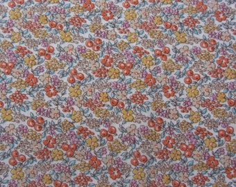 Multi Colored Floral Knit Fabric, 1pc 46in W x 1.75 Yards