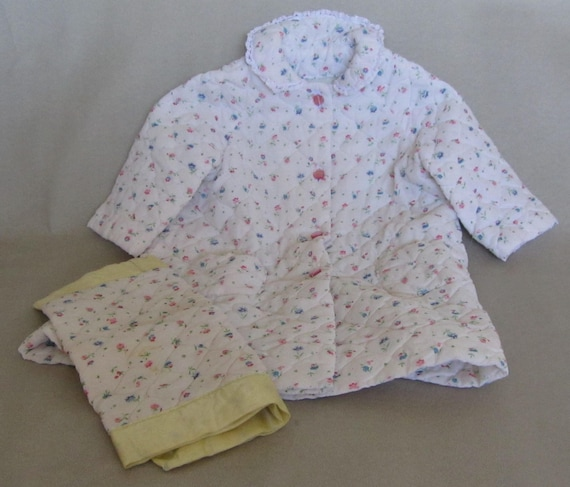 Girls Floral Bathrobe w/Matching Blanket – 2yr – 3