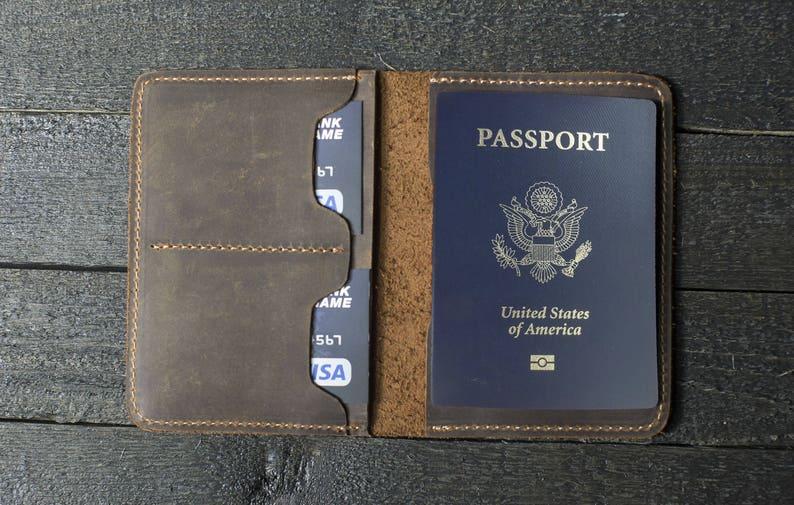 2237fa733 Leather Passport Wallet Gift for man Passport Holder