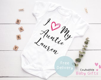 Gift UK Bodysuit Boy Baby Clothes Baby Grow Girl Newborn I Love My Your TextDaddyMummy Personalised Baby Vest Custom Valentines