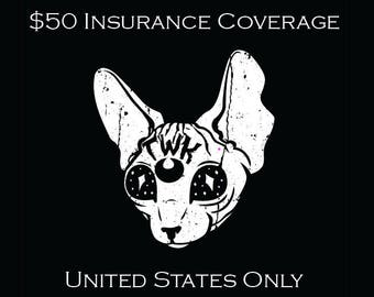 Shipping Insurance USA ONLY   Covers Up to Fifty Dollars