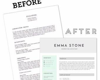 CV-Resume template + FREE item / A4 / Instant download