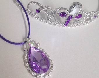 Sofia the First Necklace, Sofia the First Crown, Sofia the First Medallion Necklace, Sofia the First Accessories