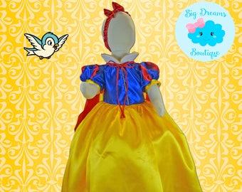 Snow White Dress, Snow White Costume, Princess Snow White Dress, Princess Snow White Costume
