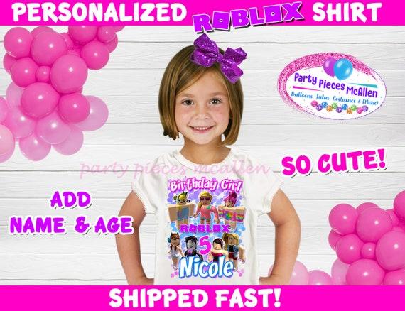 Roblox Birthday Shirt Roblox Shirt Girl Roblox Birthday Etsy