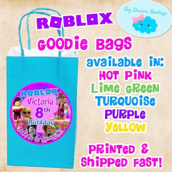 12 Roblox Girl Goodie Bags Roblox Girl Candy Bags Roblox Girl Party Favor Bags - give me candy sweater roblox