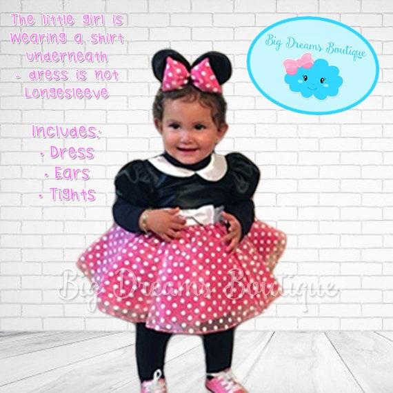Costume Bambini piccole MOUSE MINNIE BAMBOLINA Costume topi Ragazza Costume Vestito Outfit
