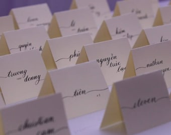Handwritten Calligraphy Place Cards