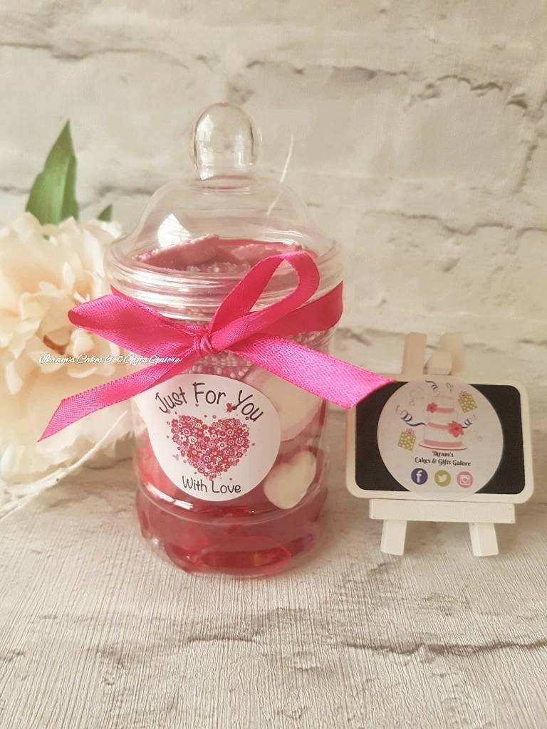 Sweet Jars Pink Red White Theme Retro Sweets Chocolate Jar | Etsy