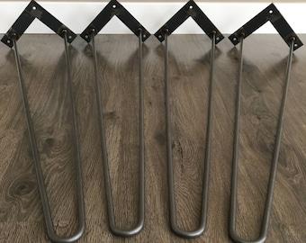Hairpin table legs 30''-34'' DIY Furniture All sizes, Custom steel furniture legs, metal table legs, mid century modern, Hairpins