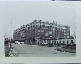 Big Old Factory Building Vintage Photo Vernacular Snapshot Black and White Snapshot Photograph Vernacular #40-1