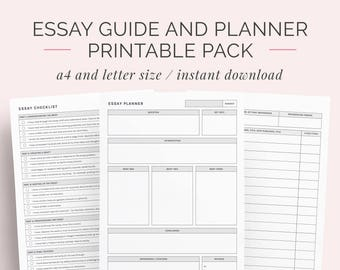 2019 student planner printable pack a4 and letter high etsy