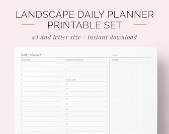 daily schedule planner to do list printable day organiser etsy