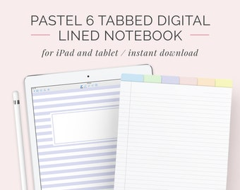 digital note taking paper template goodnotes notability ipad etsy