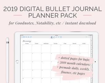 Digital Bullet Journal Etsy