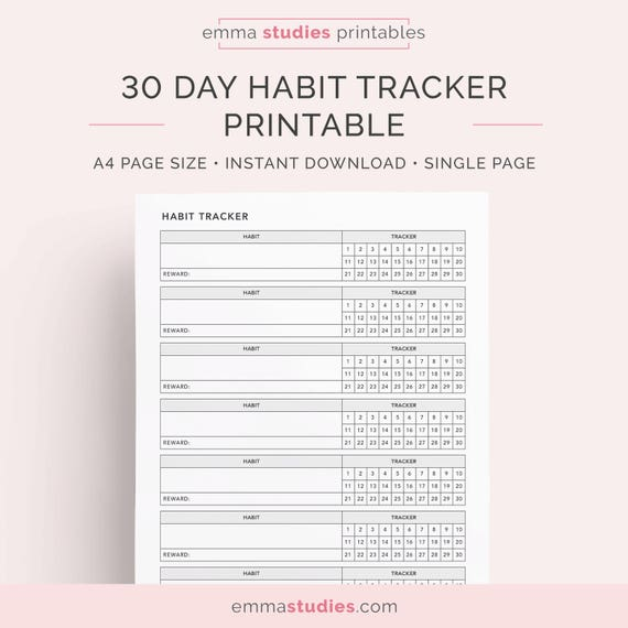 It's just an image of Monthly Habit Tracker Printable intended for tracking printable