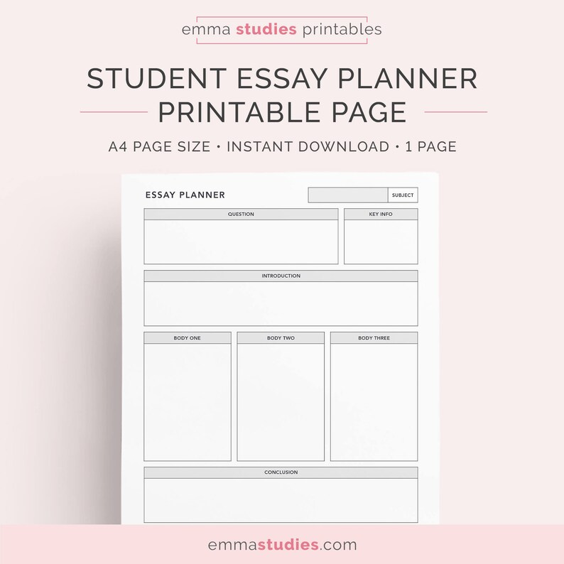 essay planner for students college university and high  etsy image