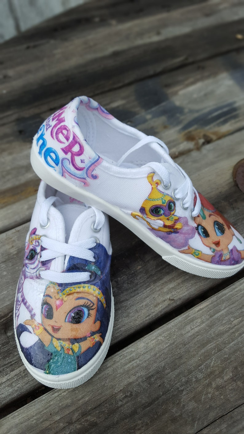 694f9f8574be Shimmer and Shine shoes custom made to order available in