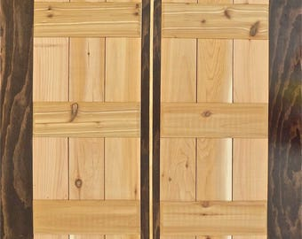 Board And Batten Shutters   Unfinished   Cedar Shutters   Wood Exterior  Shutters