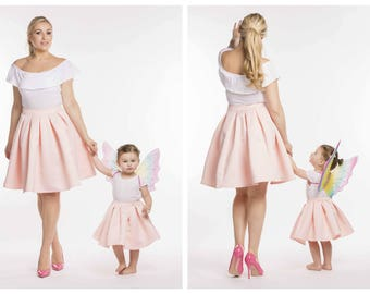 Mommy And Me Matching Skirt Mrs Polie Zowie Outfits
