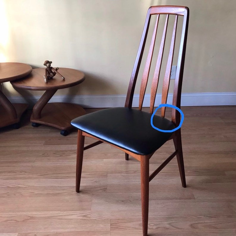 ONE Eva dining side Chair by Neils Koefoed in Afrormosia and Teak ( desk  chair, dining chair, bedroom chair) (set of eight more available)