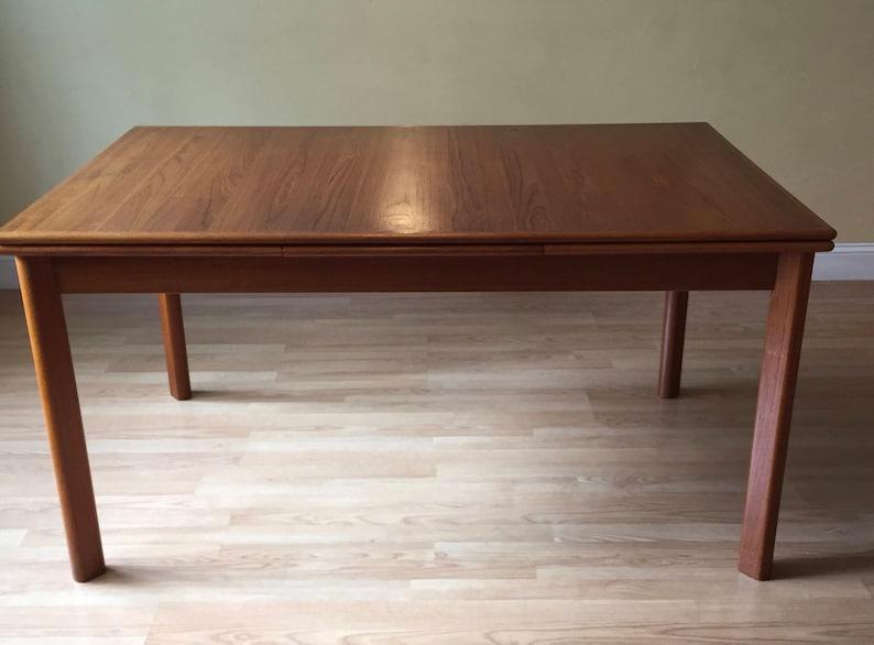 c7e950be562d Danish BRDR FURBO Teak Dining Table With 2 Leaves