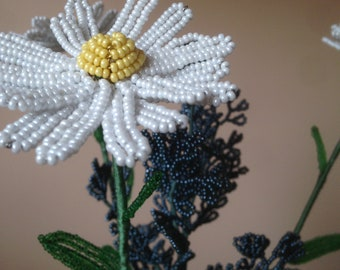 Spring bouquet made of beads