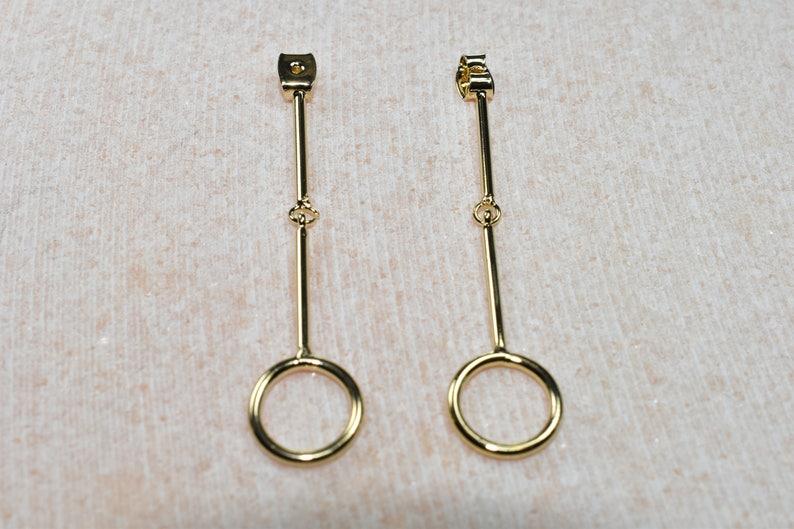 EG-16G Nickel free plating 16K Shiny gold plated brass Jewelry making 2pcs Stopper w joint stick Earring stopper Palladium
