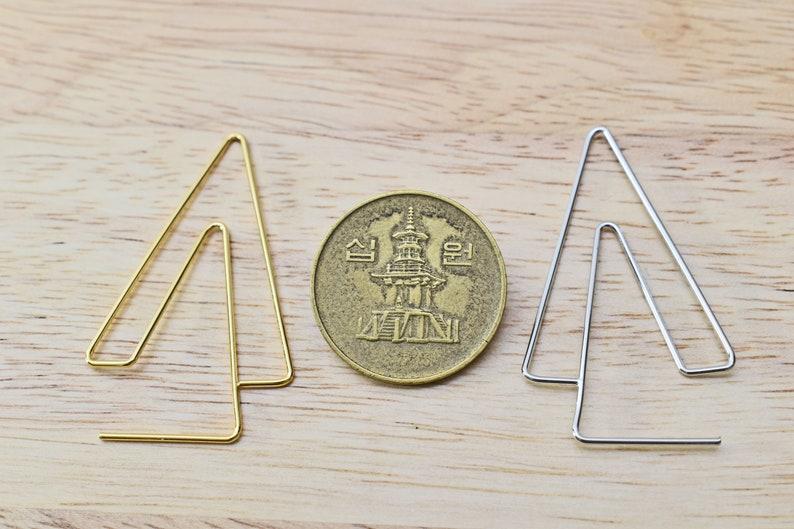 2pcs Original rhodium plated brass Palladium 42x25mm Geometric earring hoop Filigree earring hoop ESW-30R Nickel free plating