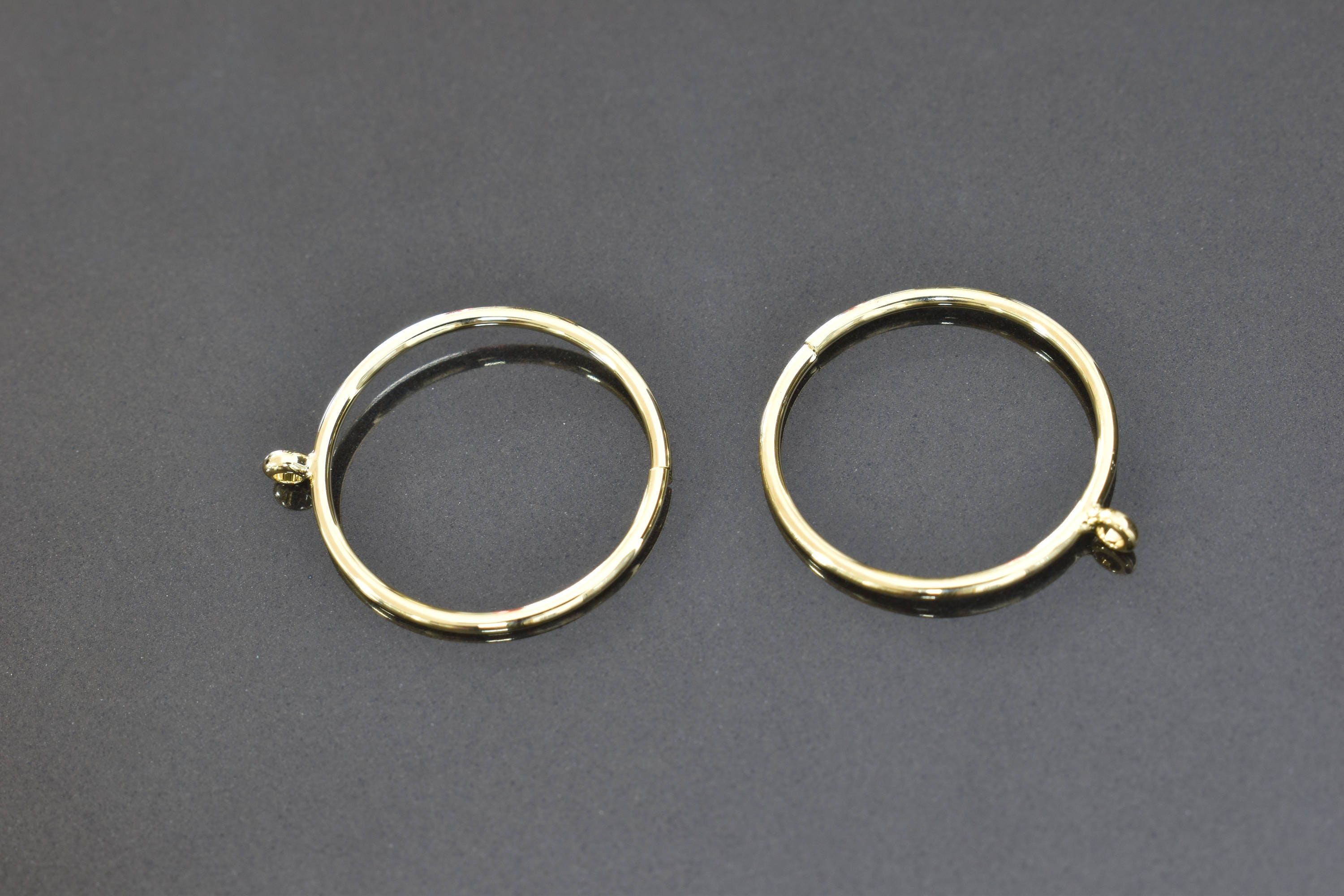 Ring, RA-04G, 5pcs, Adjustable wire ring, 16K shiny gold plated ...