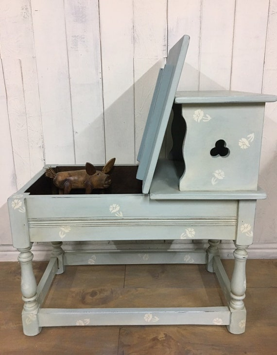 Outstanding Hand Painted Storage Bench Hall Seat Entryway Bench Duck Egg Blue Furniture Evergreenethics Interior Chair Design Evergreenethicsorg