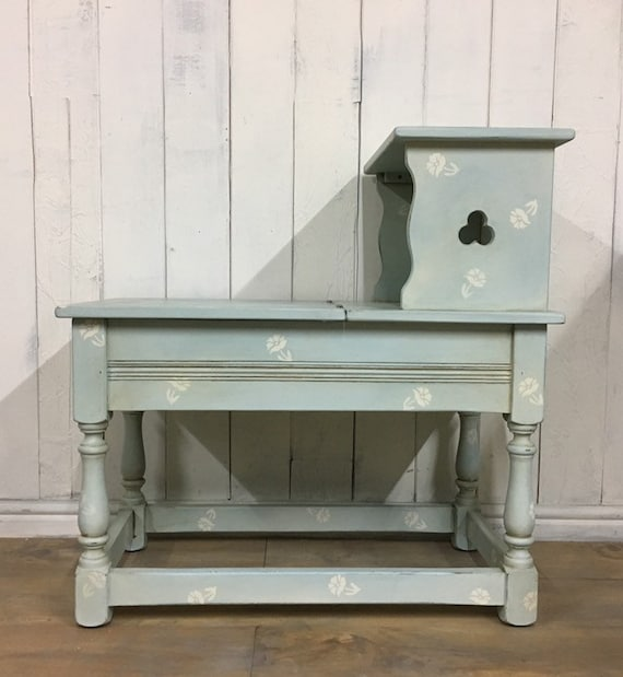 Peachy Hand Painted Storage Bench Hall Seat Entryway Bench Duck Egg Blue Furniture Evergreenethics Interior Chair Design Evergreenethicsorg